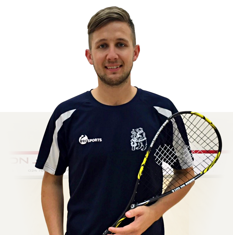 A photo of Guy Pearson, squash coach
